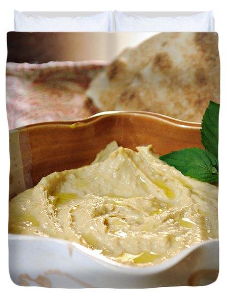 Hummus Duvet Cover