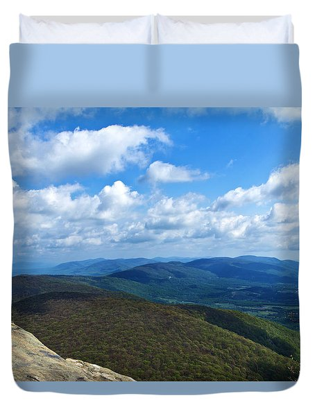 Humpback Rocks View North Duvet Cover
