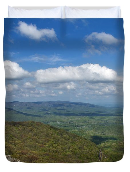 Humpback Rocks View South Duvet Cover
