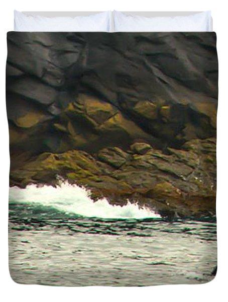 Humpback Whale Duvet Cover by Debra  Miller