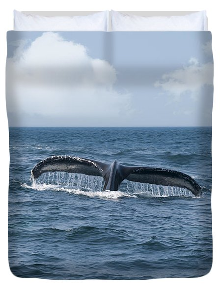 Humpback Whale Fin Duvet Cover