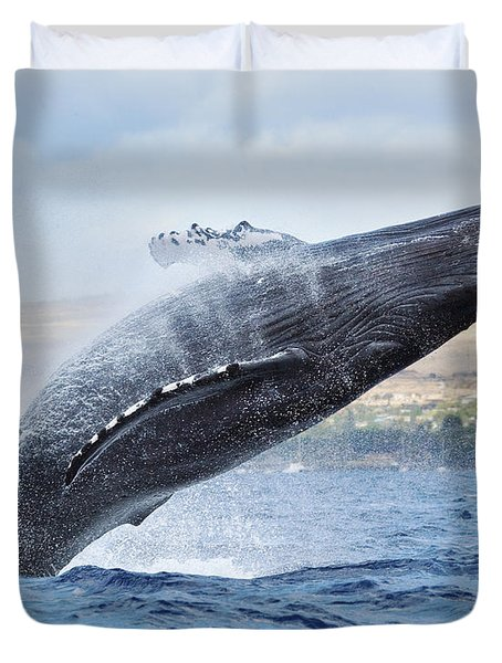 Humpback Whale Duvet Cover by M Swiet Productions