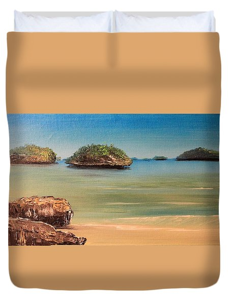 Hundred Islands In Philippines Duvet Cover