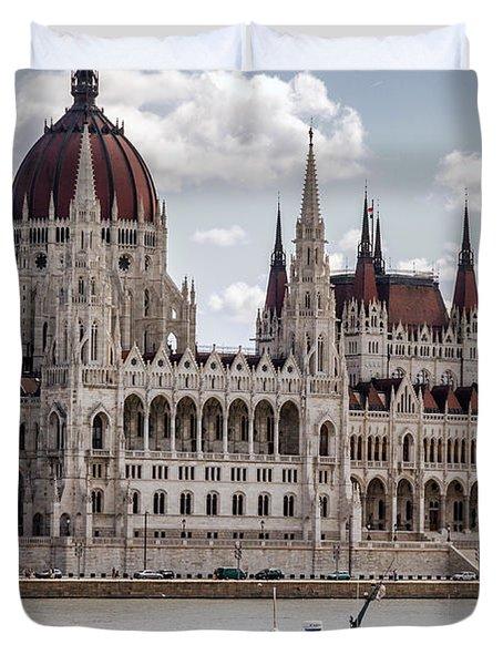 Hungarian Parliament Across The Danube Duvet Cover