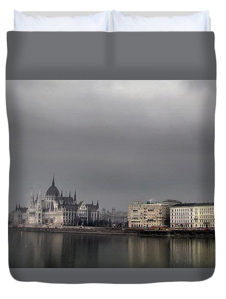 Hungarian Parliament Building Budapest Duvet Cover