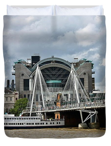 Hungerford Bridge And Charing Cross Duvet Cover