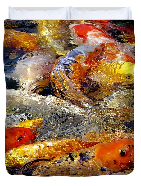 Hungry Koi Duvet Cover