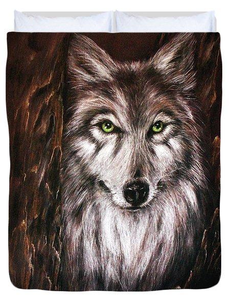 Hunter In The Night Duvet Cover