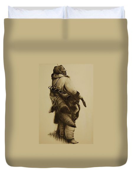 Hunter Duvet Cover by Jean Cormier