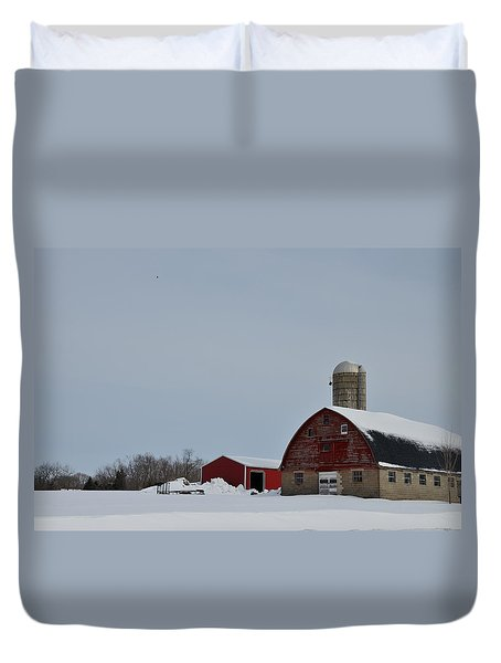 Duvet Cover featuring the photograph Hunterdon County Landscape by Steven Richman