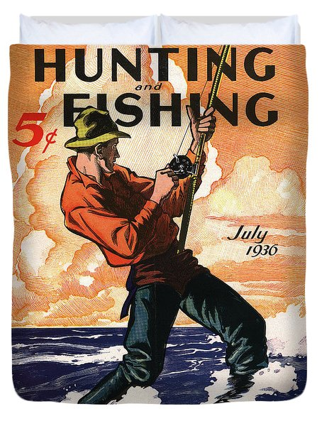Hunting And Fishing Duvet Cover