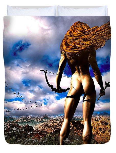 Hunting Edens Edge Duvet Cover by Bob Orsillo