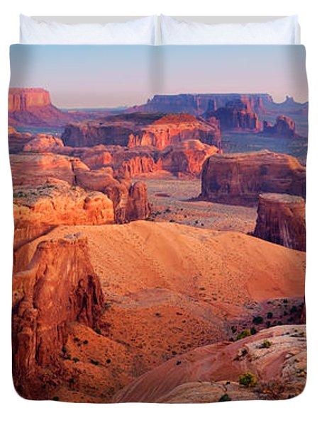 Hunts Mesa Panorama Duvet Cover