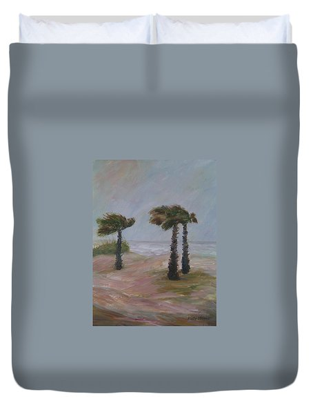 Hurricane Palms Duvet Cover