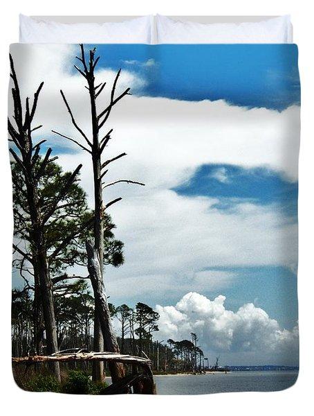 Duvet Cover featuring the photograph Hurricane Trail by Faith Williams