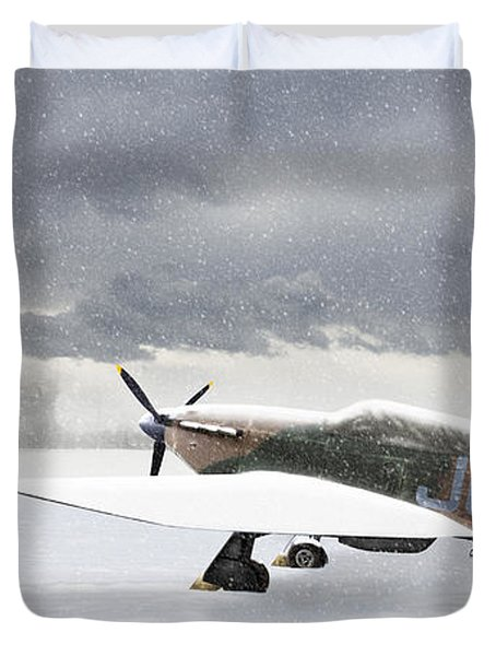 Hurricanes In The Snow Duvet Cover