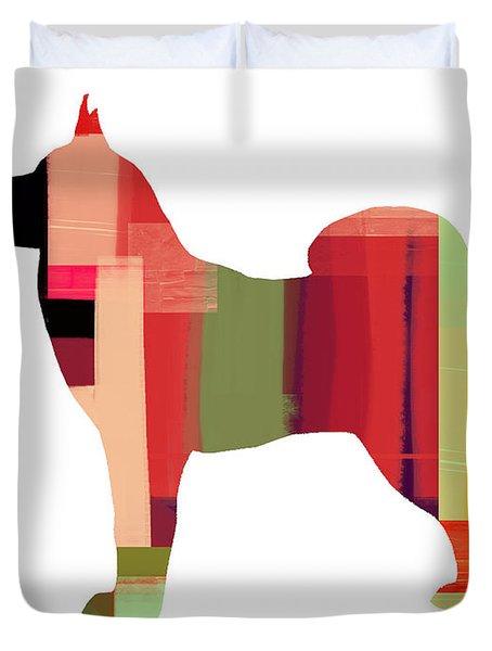 Husky Duvet Cover by Naxart Studio