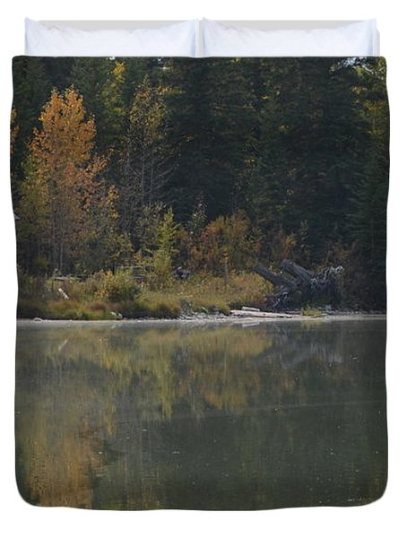 Hut By The Lake Duvet Cover
