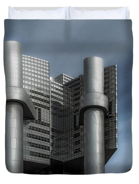 Hvb Building Duvet Cover by Hannes Cmarits