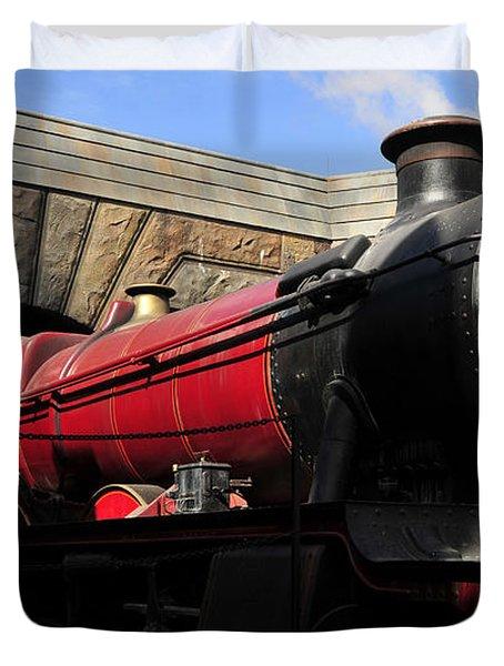 Hogwarts Express Train Work A Duvet Cover by David Lee Thompson