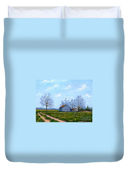 Hwy 302 Farm Duvet Cover