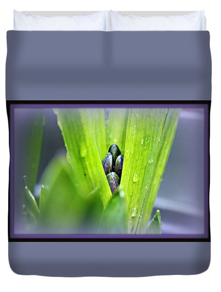 Duvet Cover featuring the photograph Hyacinth For Micah by Katie Wing Vigil