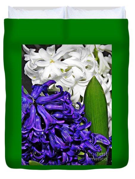 Hyacinths Duvet Cover by Sarah Loft