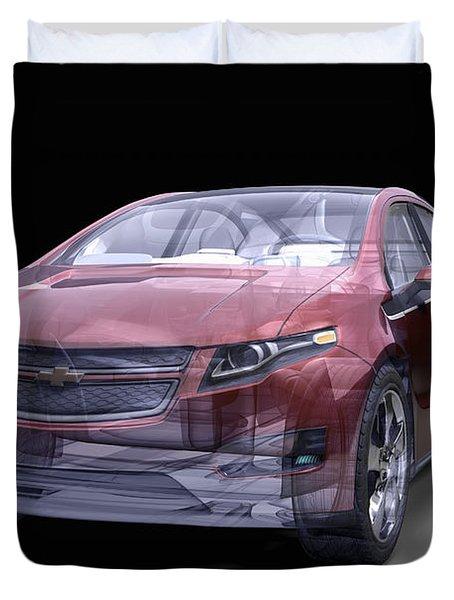 Hybrid Car Duvet Cover