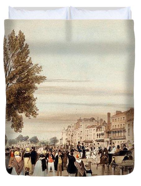 Hyde Park, Towards The Grosvenor Gate Duvet Cover by Thomas Shotter Boys