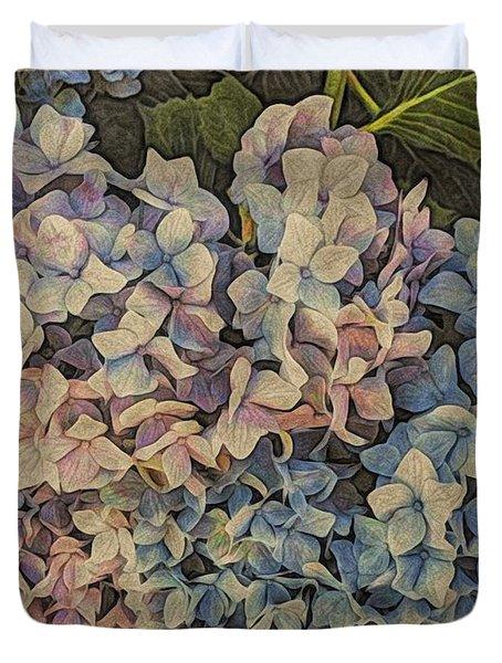 Hydrangea Blossoms Duvet Cover