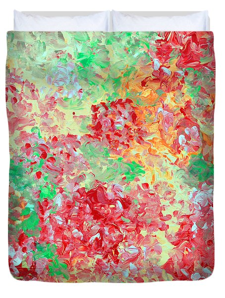 Duvet Cover featuring the painting Hydrangeas II by Alys Caviness-Gober
