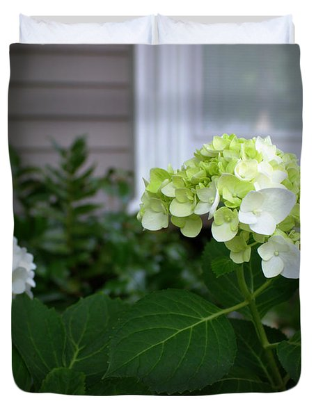 Hydrangeas IIi Duvet Cover by Beth Vincent