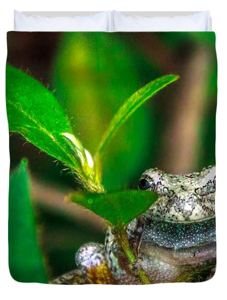 Duvet Cover featuring the photograph Hyla Versicolor by Rob Sellers