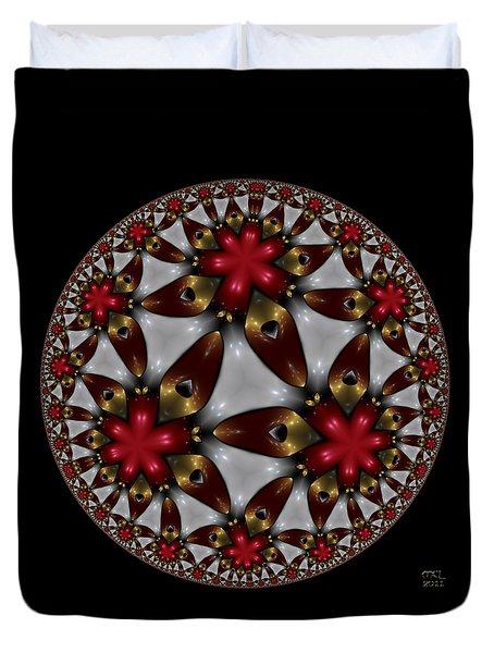 Hyper Jewel I - Hyperbolic Disk Duvet Cover by Manny Lorenzo