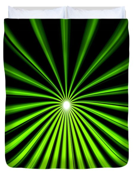 Hyperspace Electric Green Square Duvet Cover