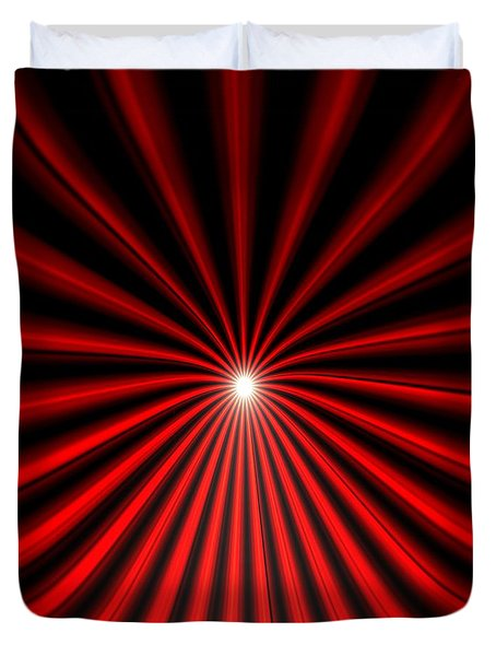 Hyperspace Red Square Duvet Cover