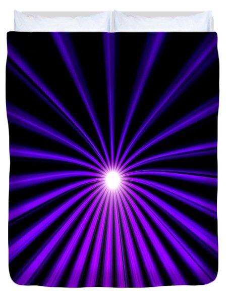 Hyperspace Violet Portrait Duvet Cover