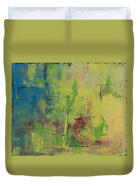 Curious Yellow Duvet Cover by Lee Beuther