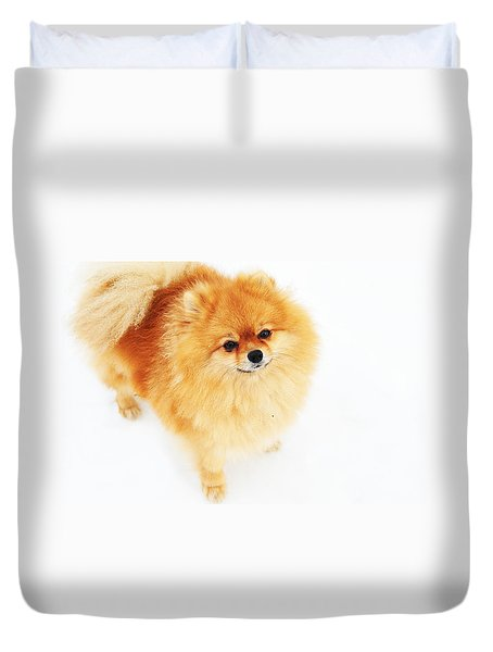 I Am Here I Duvet Cover