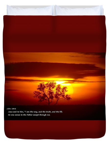I Am The Way John 14-6 Duvet Cover by Jeff Swan