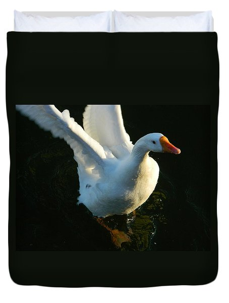 Duvet Cover featuring the photograph I Can Fly by Emmy Marie Vickers
