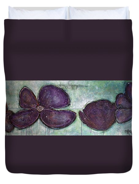 I Can See Home In Your Eyes Poppies Duvet Cover