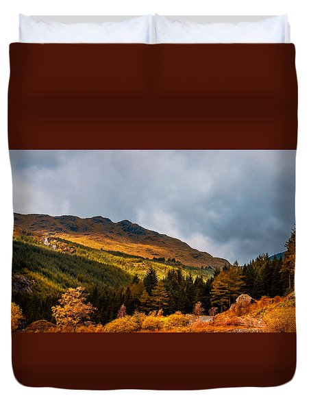 I Cant Forget This Light. Scotland Duvet Cover by Jenny Rainbow