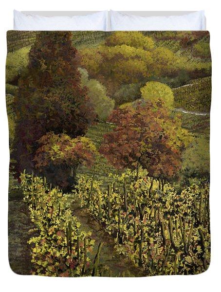 I Filari In Autunno Duvet Cover by Guido Borelli