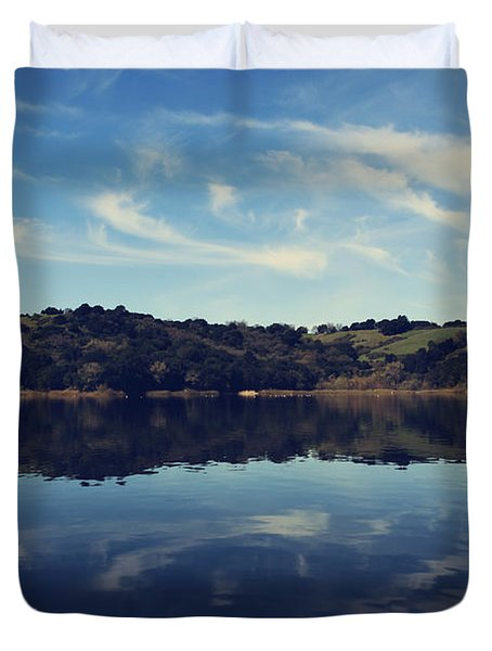 I Float On Anyway Duvet Cover by Laurie Search
