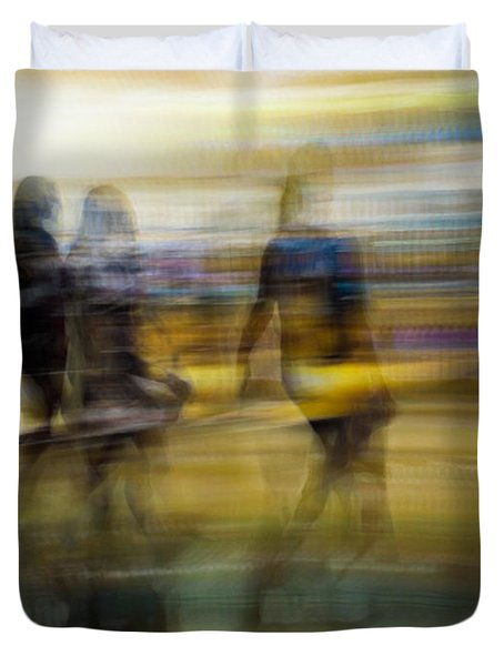 Duvet Cover featuring the photograph I Had A Dream That You And Your Friends Were There by Alex Lapidus
