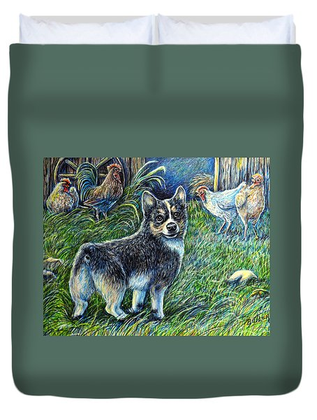 I Heard You But.... Duvet Cover by Gail Butler
