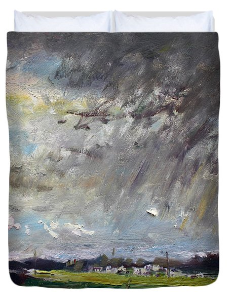 I Just Beat The Rain Duvet Cover