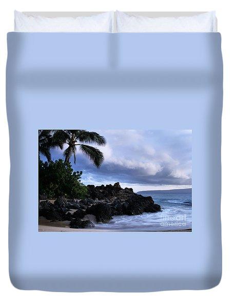 I Ke Kai Hawanawana Eia Kuu Lei Aloha - Paako Beach Maui Hawaii Duvet Cover by Sharon Mau