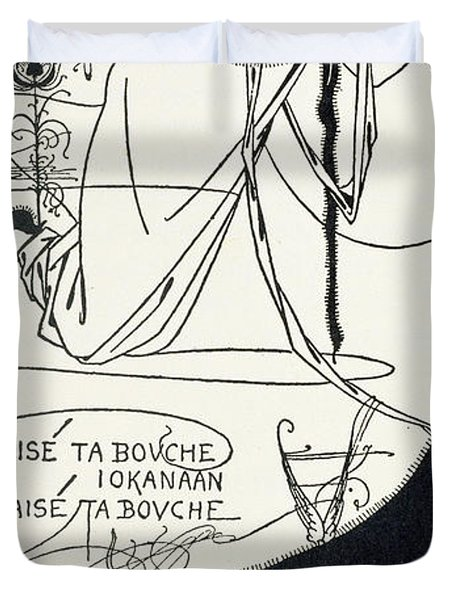 I Kissed Your Mouth Duvet Cover by Aubrey Beardsley